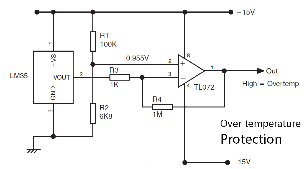 Basic LM35 Temperature Sensor Circuit Electronic