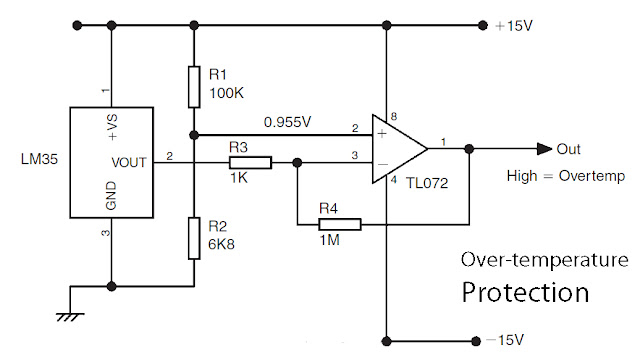 basic lm35 temperature sensor circuit