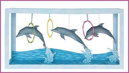Dolphin Show Papercraft