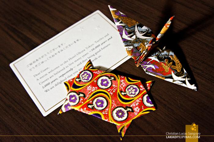 Origami Mementos at Japan's Okura Hotel Tokyo