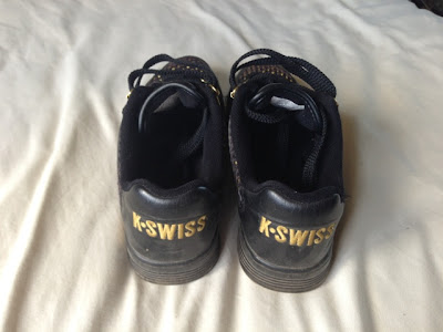 K Swiss Limited Edition Black and Gold Trainers