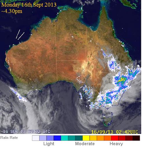 16th sept 2013 Oz radar