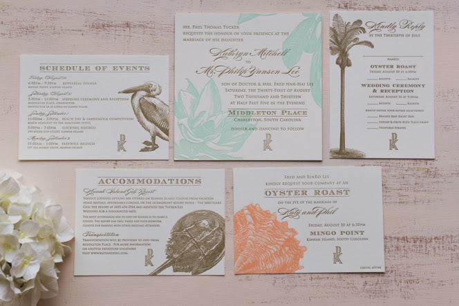 Square Letterpress Invitations