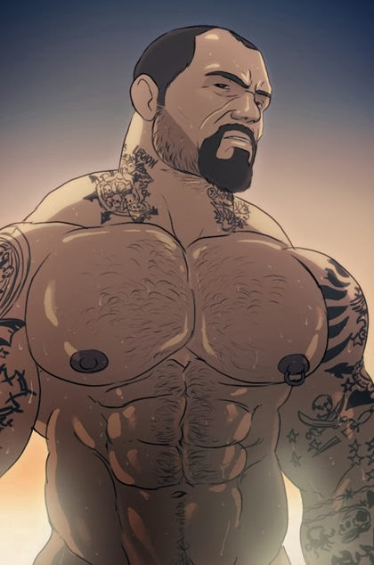 Your Favorite Hunks in Color Drawing