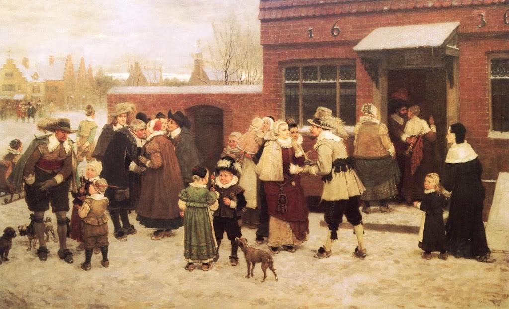 George Henry Boughton - New Year's Day in New Amsterdam
