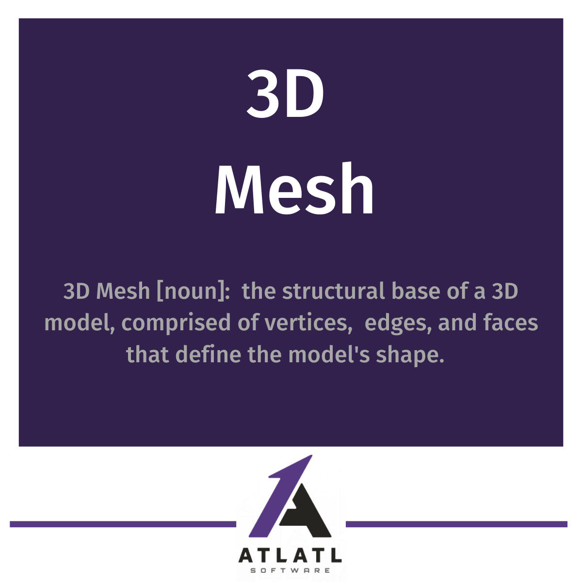 what is a 3D mesh?