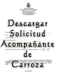Solicitud Acompañante 2015