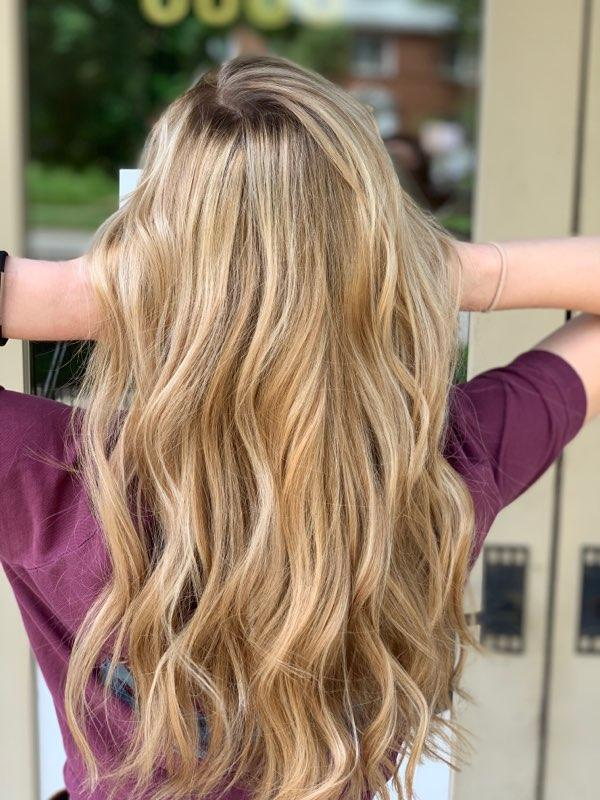 Balayage and Babylights on Long Hair