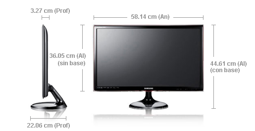 Monitor TV Samsung T24A550 dimensiones pc televisor 2 en 1
