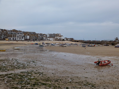 St Ives harbour and beach