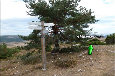 Cruce, dirección Villamardones