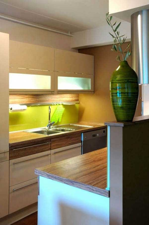 Home design excellent small space at modern small kitchen for Small contemporary kitchen