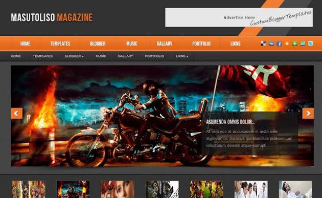 Masutoliso Magazine Blogger Template