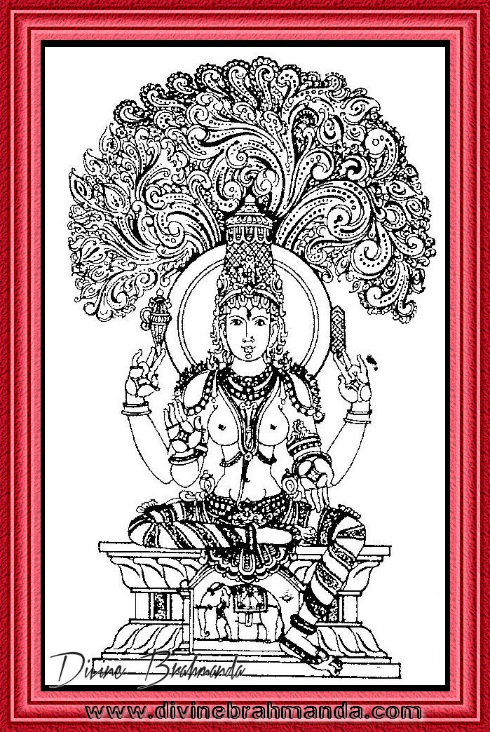 Soundarya Lahari Sloka, Yantra & Goddess To Put An End To Ignorance - 40