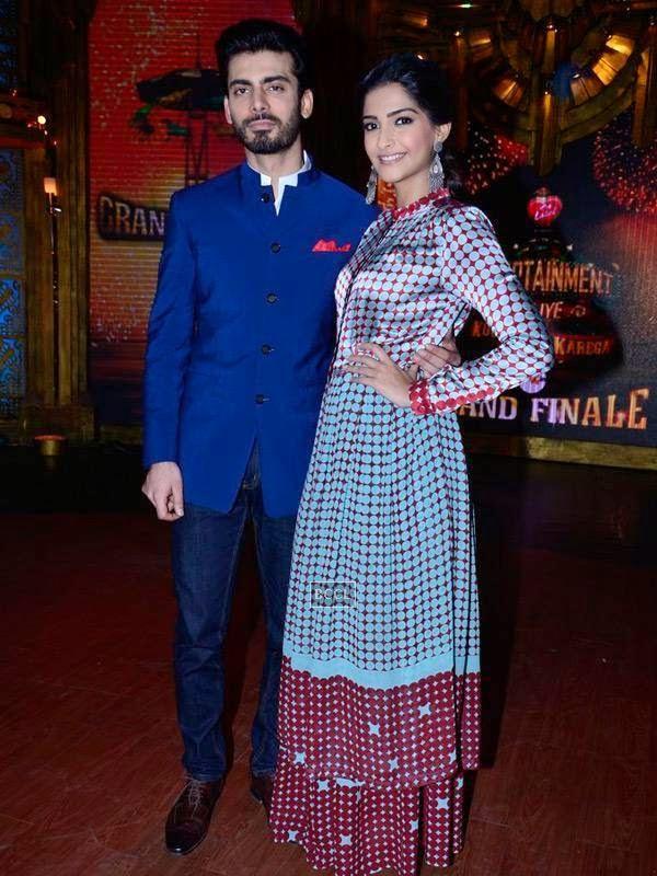 Sonam Kapoor and Fawad Khan on the sets of Entertainment Ke Liye Kuch Bhi Karega, in Mumbai. (Pic: Viral Bhayani)