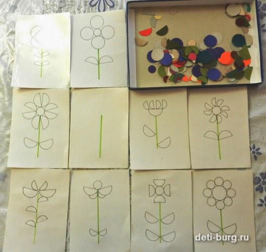Игра составь цветок