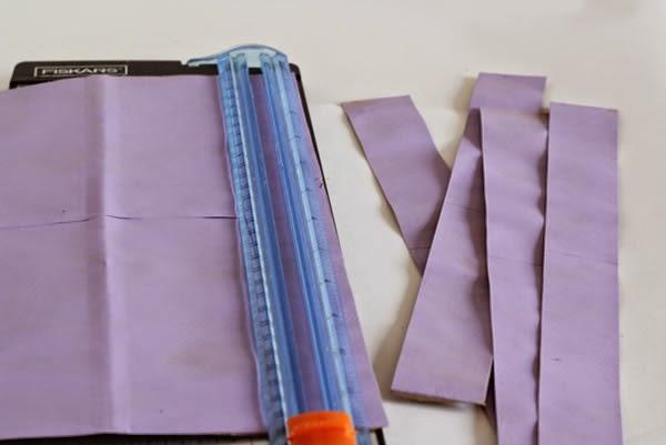Cortar o papel em tiras