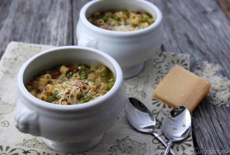 Pea & Pasta Soup