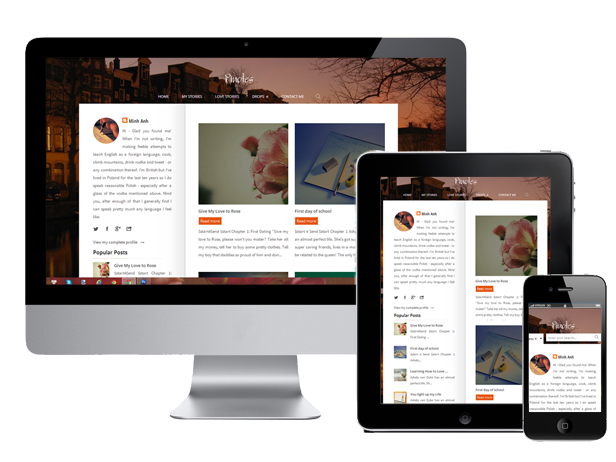 Pinotes responsive blogger template for writers by for Free blogger templates for writers