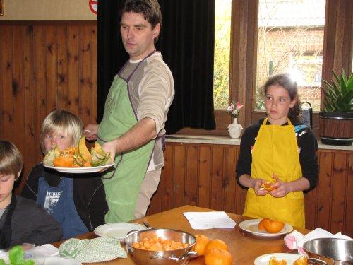 Lieven en zijn klas verzorgen het dessert.
