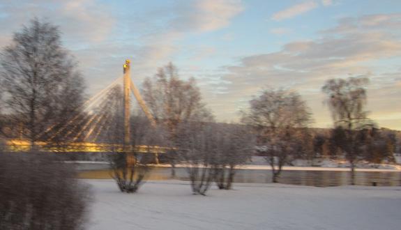 De nieuwe brug naar Ounasvaara