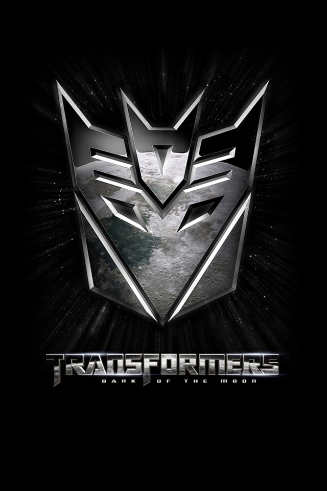 iPhone4 wallpaper Transformers Dark of The Moon Black Tone Poster