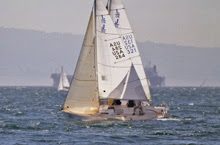 J/80 one-design sailboats- sailing at Long Beach Race Week