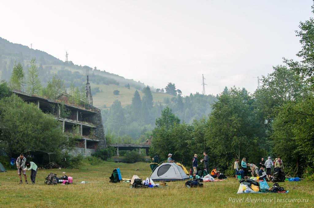 Палаточный лагерь в Квасах