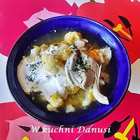 zupa kalafiorowa z wkładką mięsną
