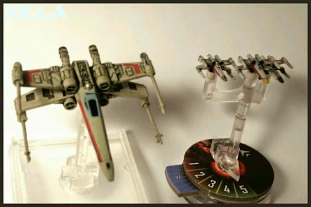 X-Wings del Star Wars Armada pintados por Xela
