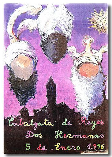 Cartel Cabalgata 1996, autor: Rafael Guerrero
