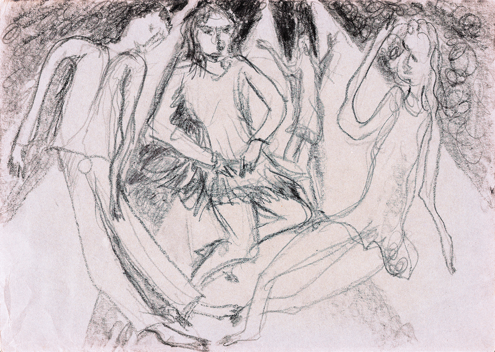 saturday night dancing i (tekening van frank waaldijk)