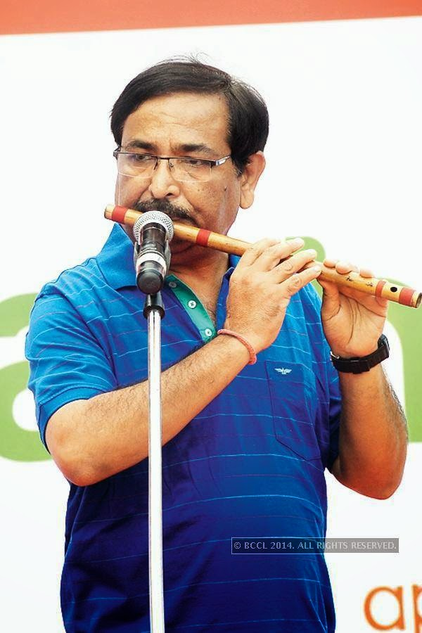 Muktesh Chander during the Raahgiri Day, in Delhi.<br />