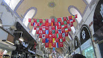 We wandered around a lot, one time finding this Turkish flag display