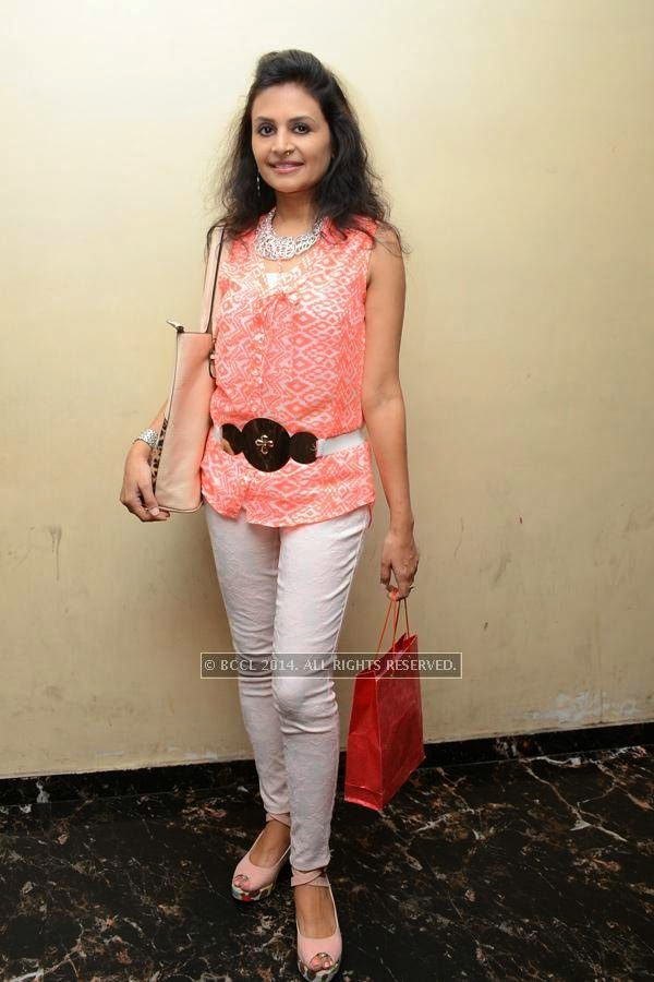 Shilpi poses during the birthday party, in Hyderabad.