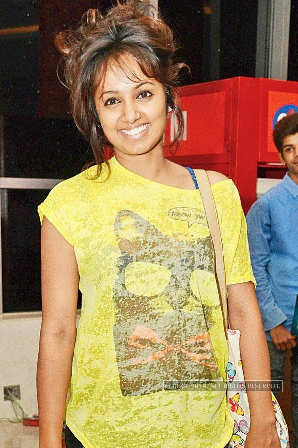 Tejashwini during the screening of Salman Khan's latest film Kick, at a city multiplex.