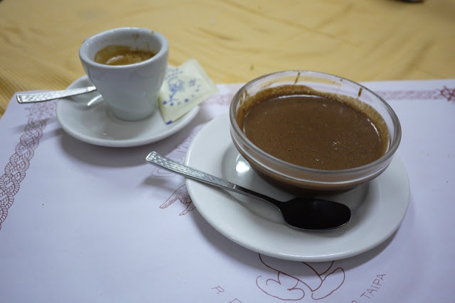 espresso and chocolate mousse in Macau