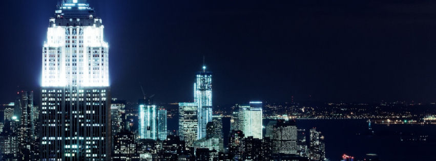 Newyork city nights facebook cover
