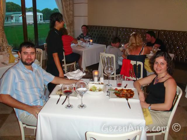 Voyage Belek'teki İtalyan restoranında