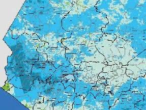 Mayor acumulacion de agua en suelos del occidente del país
