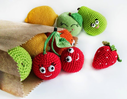 Funny Fruit Crochet Toys by Little Sweet Candy Shop
