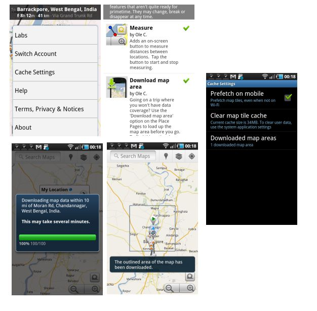 Google Maps 5.7 for Android Menyediakan Fitur Download Map Area