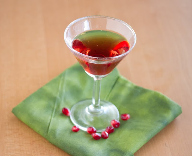 photo of a pomegranates martini