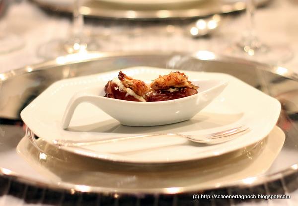Silvester-Gruß aus der Küche: Datteln mit Minze-Frischkäsecreme und ...