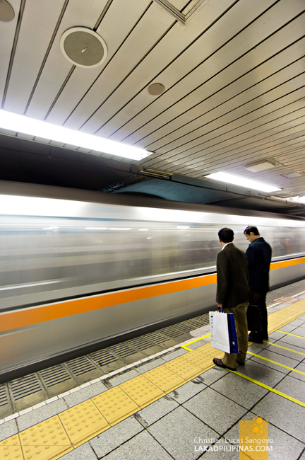 A Train Passing at the Tokyo Subway
