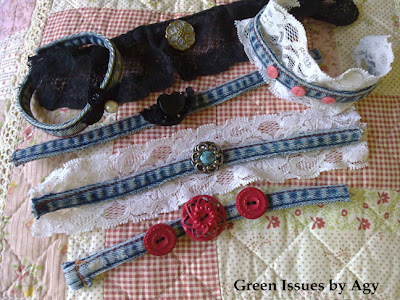Collection Old Jeans Bangles