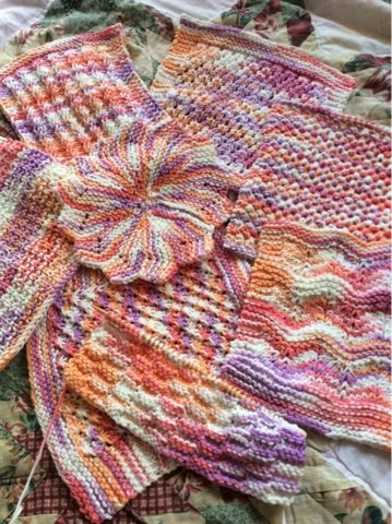 Hand knit wash cloths
