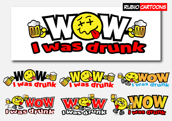 LOGO DESIGN FOR WOW I WAS DRUNK WEBSITE