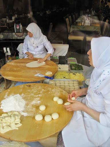 Ladies making gozleme, Istanbul