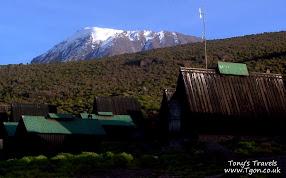 The snowy peak